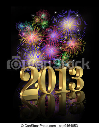 2013 fireworks for New Year - csp9464053