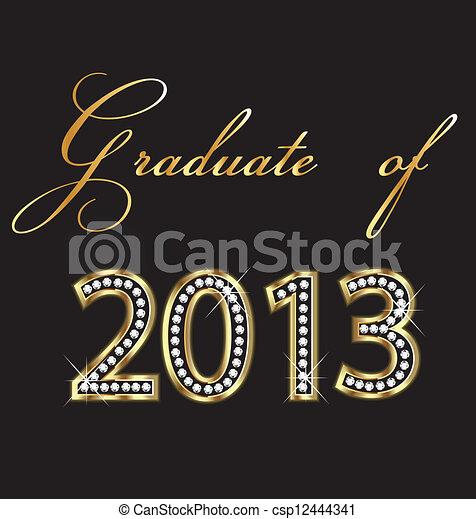 Graduado de 2013 - csp12444341
