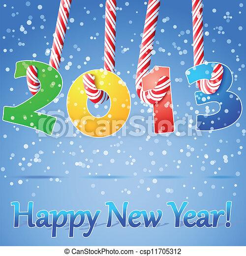 2013 Happy New Year background. - csp11705312