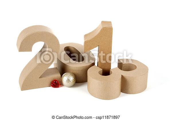 2013 in paper 3D numbers - csp11871897
