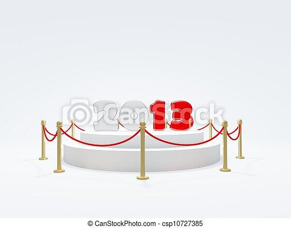 2013 New Year symbol on podium - csp10727385