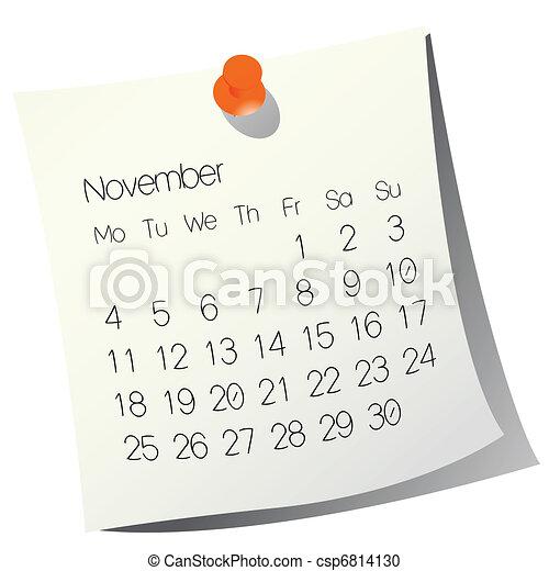 2013 November calendar - csp6814130