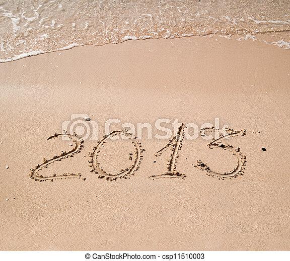 2013 written in sand on beach - csp11510003