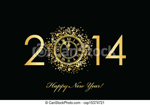 2014, ευτυχισμένο το νέο έτος  - csp15374721