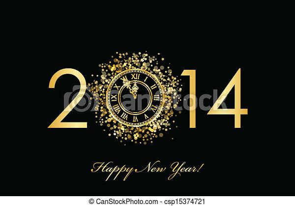 2014, 新年おめでとう - csp15374721