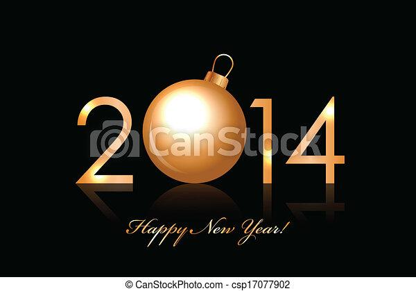 2014, 新年おめでとう - csp17077902