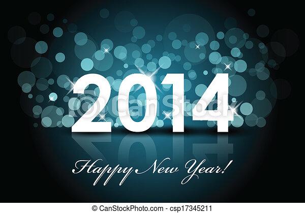 2014, boldog, -, újév - csp17345211