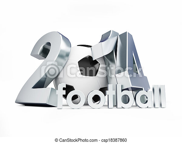 2014 brazil football on a white background - csp18387860