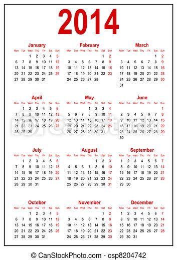 2014, calendário - csp8204742