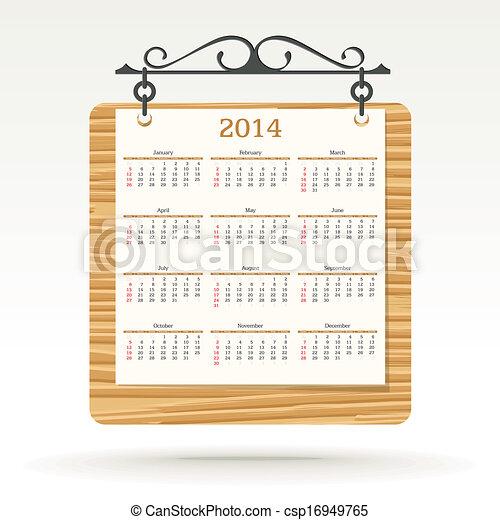 2014 calendar - csp16949765