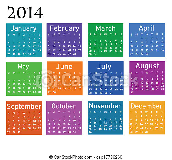 2014 calendar  - csp17736260
