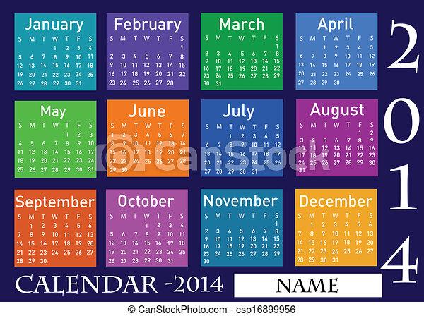 2014 calendar  - csp16899956