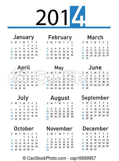 2014 calendar  - csp16899957