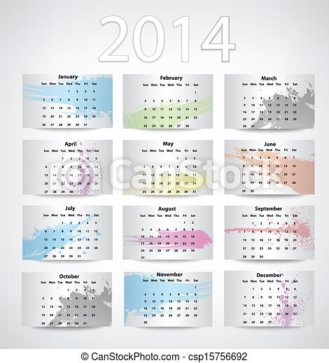 2014 Calendar - csp15756692