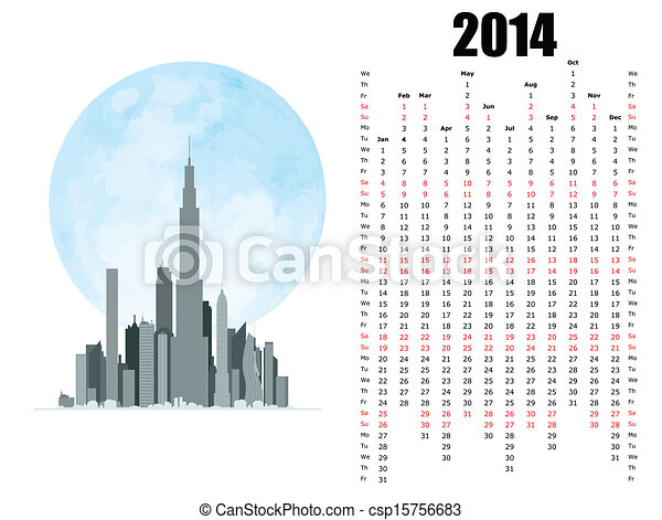 2014 Calendar - csp15756683