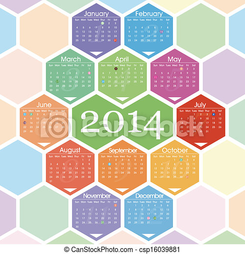 2014 calendar - csp16039881