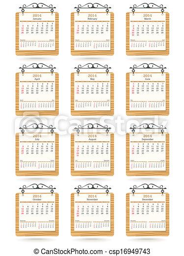 2014 calendar - csp16949743