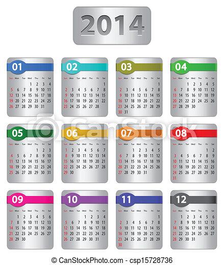 2014 calendar - csp15728736
