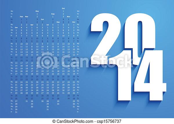 2014 Calendar - csp15756737