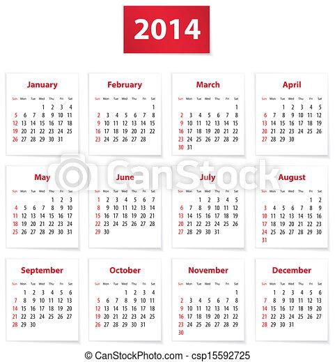 2014 calendar - csp15592725