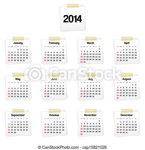 2014 calendar - csp15821026