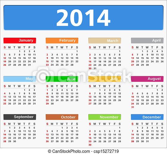 2014 Calendar - csp15272719