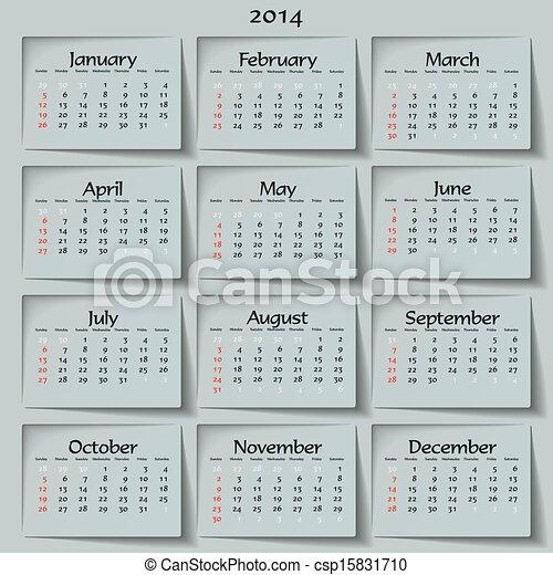 2014 calendar - csp15831710