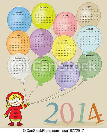 2014 calendar  - csp16772917