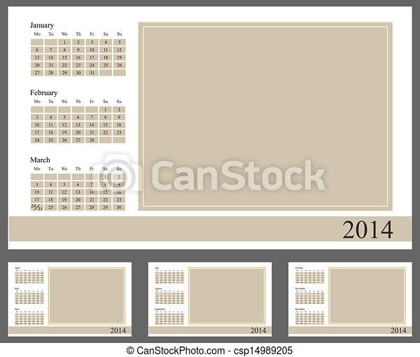 2014 Calendar - csp14989205