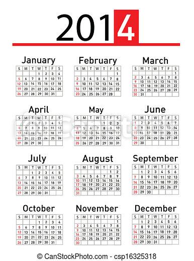 Calendario 2014 - csp16325318