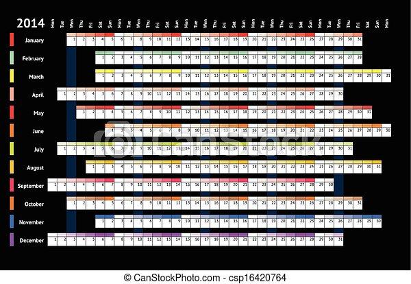 Calendario Lineal.2014 Calendario Lineal