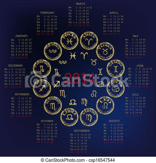 Calendario Oroscopo.2014 Calendario Oroscopo