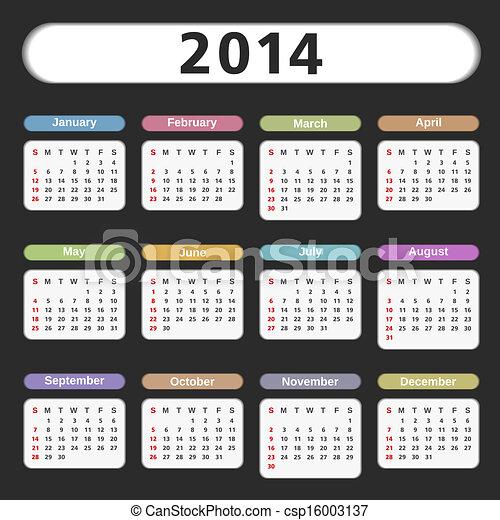 Calendario 2014 - csp16003137
