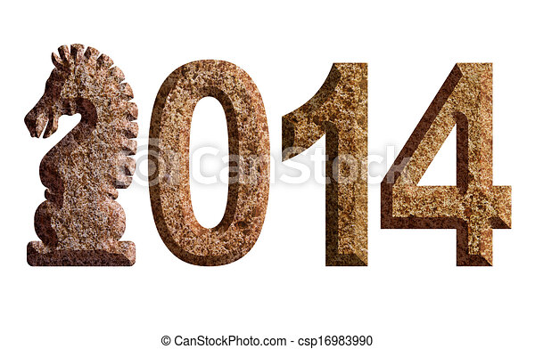 2014 Chinese Horse 3d Chisel Stone Illustration 2014 Chinese Lunar