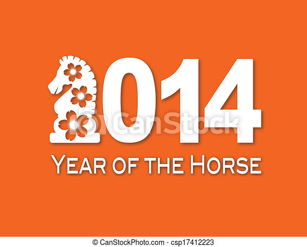 2014 Chinese Horse Paper Cut Out Illustration 2014 Chinese Lunar