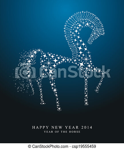 2014 chinese New Year of the horse  - csp19555459