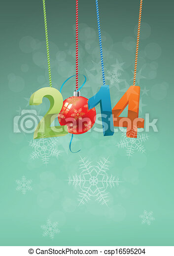 2014 christmas ball  - csp16595204