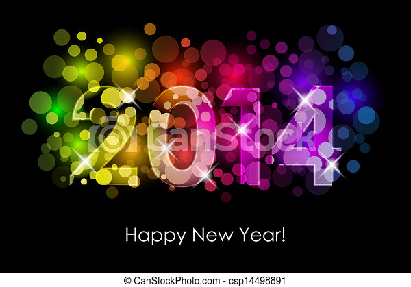 2014 colorful background - csp14498891