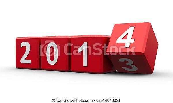 Cubos rojos 2014 - csp14048021