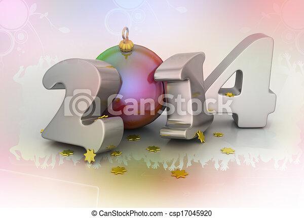2014, felice anno nuovo - csp17045920