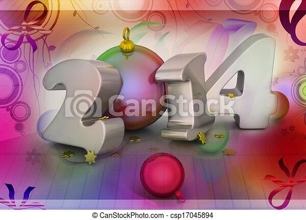 2014, felice anno nuovo - csp17045894