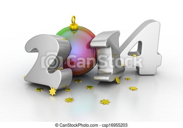 2014, felice anno nuovo - csp16955203