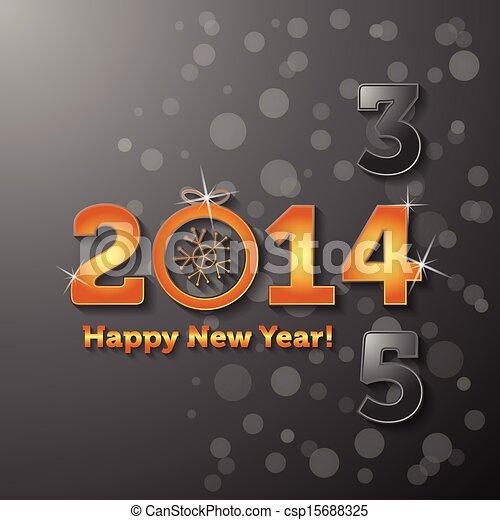 2014, felice anno nuovo - csp15688325