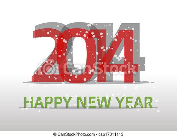 2014, felice anno nuovo - csp17011113