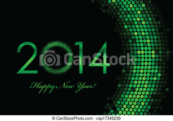 2014 green background - csp17345239
