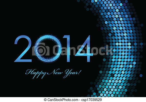 2014 Happy New Year background - csp17039529