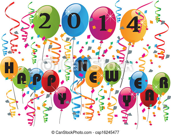 2014 Happy new year background  - csp16245477