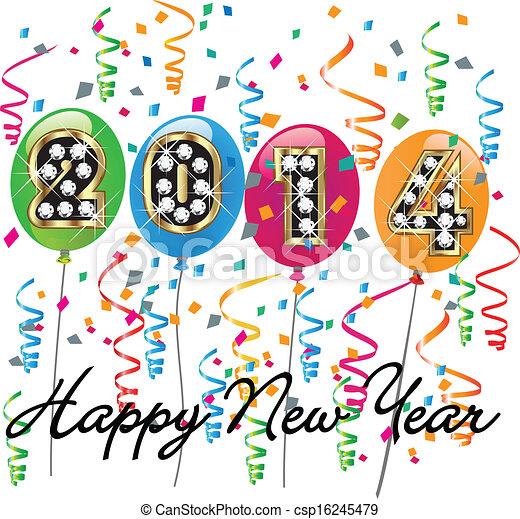 2014 Happy new year background  - csp16245479