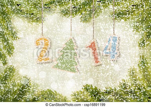 2014 Happy New Year background. Vector - csp16891199