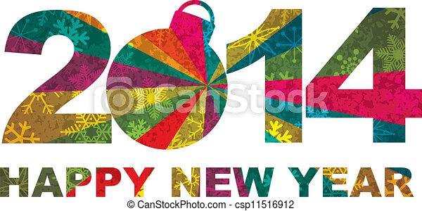 2014 Happy New Year Numerals - csp11516912